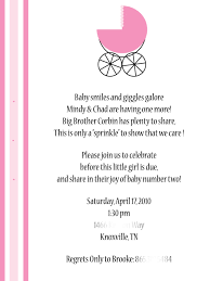 Wordings For Baby Shower Friendship Baby Shower Thank You Card Wording For Host With Baby