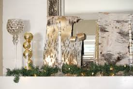 gorgeous fireplace decoration using gold birch bark simple mantel