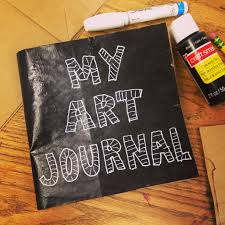 paper bag journal art projects for kids