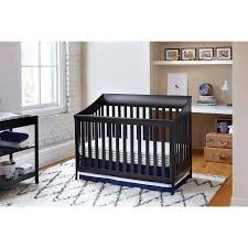 Black 4 In 1 Convertible Crib Urbini Starri 4 In 1 Convertible Crib Black Walmart