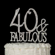 50 and fabulous cake topper 40 fabulous cake topper for 40th birthday gold party supplies