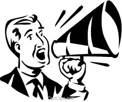 clipart uomo uomo parla in un megafono immagini grafiche vettoriali clipart
