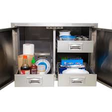 Kitchen Appliance Cabinet Storage Bbqguys Com Kingston Series 30 Inch Stainless Steel Enclosed