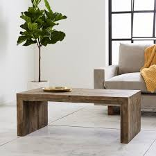 gray reclaimed wood coffee table emmerson reclaimed wood coffee table west elm