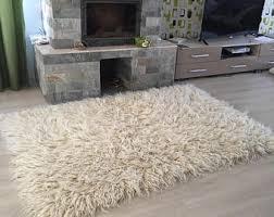 Flokati Wool Rug 100 Pure Organic Handwoven Wool Area Rug Flokati Area Rug