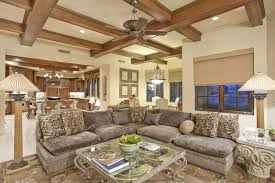 Craftsman Ceiling Fan by Craftsman Living Room With Complex Marble Floors U0026 Ceiling Fan In