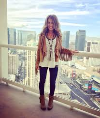 suede fringe jacket lace crochet tank leggings boots clothes