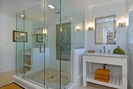 bathroom design bright frameless shower doors in bathroom