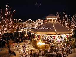 leavenworth christmas tree lighting gazebo lights winter snow
