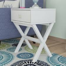 Curved Nightstand End Table White End U0026 Side Tables You U0027ll Love Wayfair