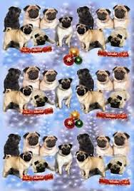 pug wrapping paper pug dog christmas wrapping paper by starprint ebay