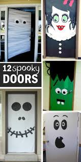 Easy Make Halloween Decorations Top 25 Best Halloween Door Decorations Ideas On Pinterest