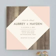wood wedding invitations modern barn wood wedding invitations by mac minted