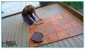 tiles over wood deck