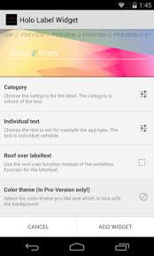 android label holo label widget adds text labels to your home screen android