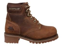 womens work boots uk womens caterpillar cat logger leather steel toe cap safety work