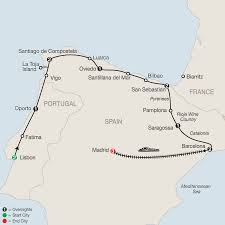 Catalonia Spain Map by Lisbon Northern Spain U0026 Madrid Tour Globus