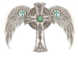 celtic cross with wings by aegisshadow on deviantart