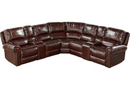 cindy crawford recliner sofa cindy crawford home cania brown leather 7 pc reclining sectional