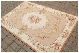 shabby french chic aubusson rug light pink ivory cream subtle