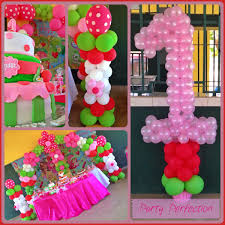 strawberry shortcake party supplies strawberry shortcake decor by glenda number 1 column balloons