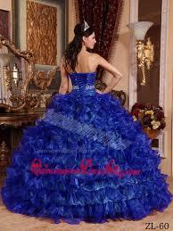 royal blue ball gown sweetheart floor length organza beading