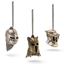 of thrones helmet ornaments 3 pack thinkgeek