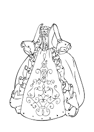 ball gown coloring page for girls printable free coloring 5