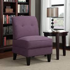 Overstock Armchairs Handy Living Engle Amethyst Purple Linen Armless Chair Free