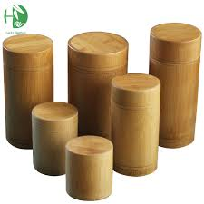 wooden canisters kitchen bamboo storage boxes wooden containers handmade organizer tea jars
