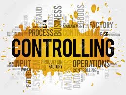 controlling definition controlling word cloud collage business concept background royalty