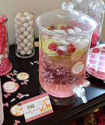 Drinks For Baby Shower - pink baby shower drink station u2013 printables for kids parties u0026 games
