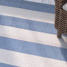 Blue Striped Area Rugs Beachcrest Home Gallinas Blue Striped Indoor Outdoor Area Rug
