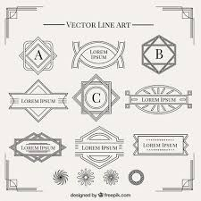 shapes in deco style collection vector free