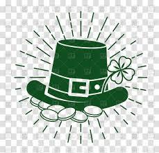 st patricks day emblem leprechaun hat vector image 158981