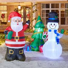Inflatable Christmas Decorations For The Yard by Outdoor Christmas Decorations