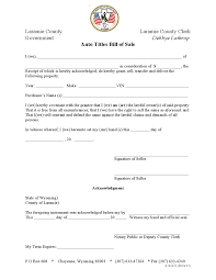 Free Bill Of Sale Template For Car by Free Laramie Auto Titles Bill Of Sale Form Download Pdf Word