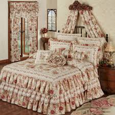 heirloom floral ruffled grande bedspread