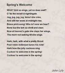 s welcome poem by lyly poem