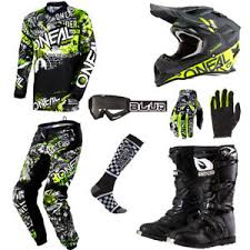 motocross gear package deals oneal element attack motocross gear set jersey pants gloves socks
