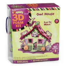 amazon com foamies 3d foam kit halloween haunted house with owl