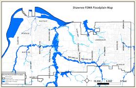 Map Of Tulsa City Of Shawnee Fema Floodplain Mapping