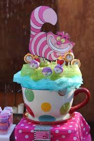 alice in wonderland mad tea party baby shower party ideas photo