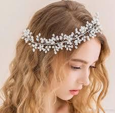 wedding crowns gorgeous pearls 2018 headpieces wedding crowns tiaras for women