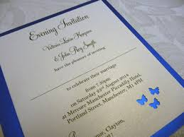 royal blue wedding invitations royal blue butterfly themed wedding invitations 15