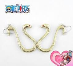 japan earrings boa hancock one anime japan ear clip earrings prop