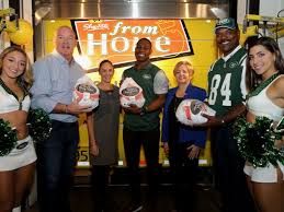 ny jets shoprite deliver 14 tons of thanksgiving turkeys to food