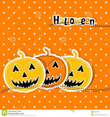 poster of orange face pumpkin on halloween flat vector stock