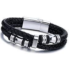 braided steel bracelet images Jstyle stainless steel mens braided leather bracelet jpg