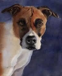 boxer dog art boxer dog art print of my watercolor painting by rachelsstudio
